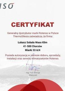 Certyfikat Rotenso