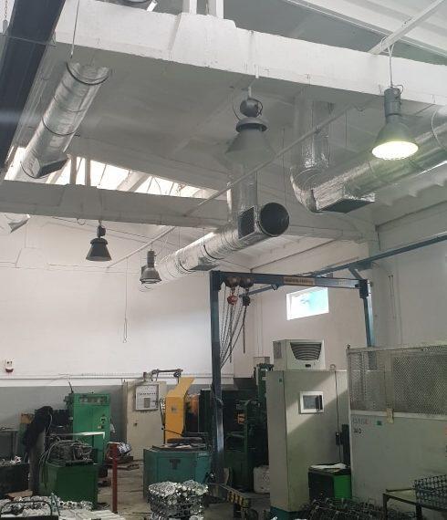 Klimatyzacja przemysłowa - wnętrze budynku