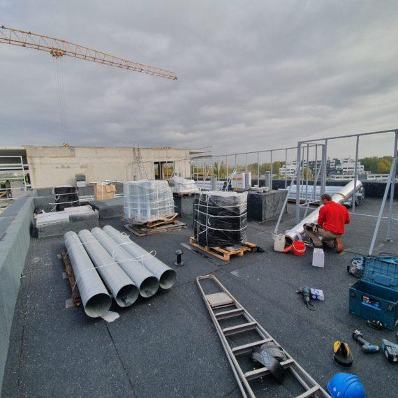Montaż klimatyzacji na dachu