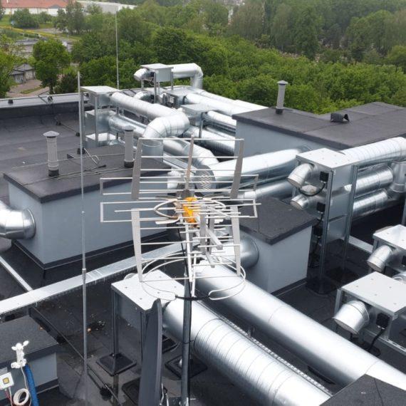 Klimatyzacja budynku - dach