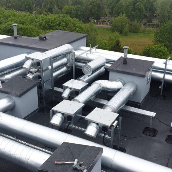 Konstrukcja klimatyzacji na dachu